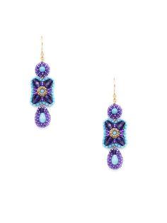 Purple & Blue Triple Drop Earrings by Miguel Ases - http://www.gilt.com/invite/saltspringislandgirl