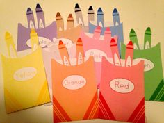 Color Sort Crayon Holders Teaching Tool Preschool by pinksqueeze