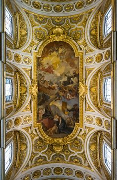 San Luigi dei Francesi, Rome, Italy On my bucket list of places to go! Visit Rome, Visit Italy, Monuments, Fresco, Best Of Rome, Dome Ceiling, Dream Fantasy, Around The World In 80 Days, Religious Architecture
