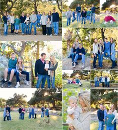 large extended family photo session, posing!