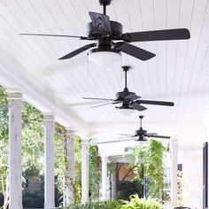 Laurel Foundry Modern Farmhouse Schiller Patio Ceiling Fan This post may contain affiliate links. Best Ceiling Fans, Ceiling Fan With Remote, Outdoor Ceiling Fans, Outdoor Fans, Outdoor Areas, Flush Lighting, Outdoor Lighting, Landscape Lighting, Outdoor Decor