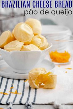 This Gluten-Free Brazilian Cheese Bread recipe makes savory and cheese-filled muffins for an allergy-friendly side dish or snack. Only 6 ingredients and minutes to make this easy pao de queijo! Gluten Free Snacks, Gluten Free Baking, Savory Snacks, Easy Snacks, Brazilian Cheese Bread, Mini Muffin Pan, Muffins, Healthy Eats, Healthy Recipes