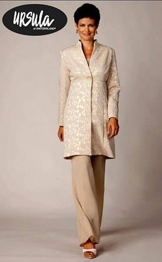 Ursula 3pc Coat Pant Suit 13020 at frenchnovelty.com    Mother of the bride  $397 Candace
