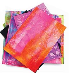 There are two things I use regularly, deli paper and Gelli Plates. I use deli paper in a variety of ways: to paint on, to print with, to wip...