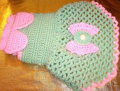 crocheted dog sweater dog dress by LuLusVarietyShop on Etsy, $22.00