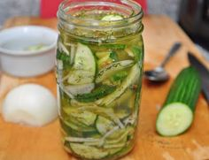 Simple Overnight Pickled Cucumbers and Onions