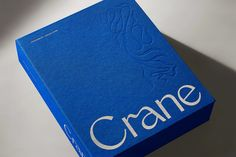 Crane by Collins Blog Design Inspiration, Packaging Design Inspiration, Creative Inspiration, Note Pen, Stationary Box, Paper Suppliers, Engraving Printing, Paper Companies, Design Agency