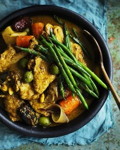 Neil Perry's Duck, Olive and Date Tagine