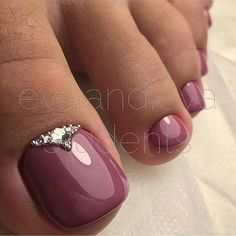 Dusty PinkToe NailART