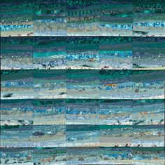 The Quilts of Ann Brauer--Abstract landscapes in fiber by Ann Brauer, via Behance