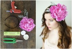 Forget fabric flowers! Learn how to make a REAL flower headband. This is a super easy tutorial.