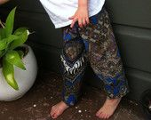 Great for summer. My boy has a pair of these.  Petit Batik Children's Pants - BLUE BUTTERFLY BATIK - Medium Size - Fits 2-4 years
