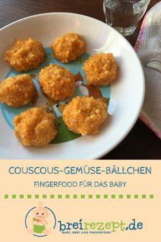 Coucous Gemüse Bällchen sind ein gesundes Fingerfood für das Breifrei-Baby und den Übergang zur Familienkost: https://www.breirezept.de/rezept_coucous-gemuese-baellchen.html