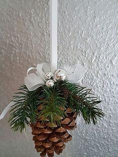 Weihnachtszapfen, gr. Pinienzapfen, Fensterdeko (18cm)