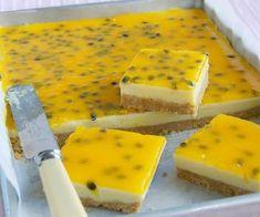 lemon and passionfruit slice