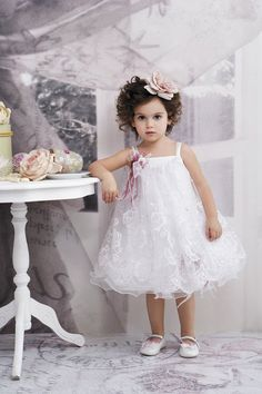 Christening  Gown  Christening  Dress White by StyledByAlexandros