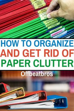 How to organize paper clutter? These paper clutter organization ideas are life changing. My favorite idea is the home organization binder. Finally, organize your paper clutter! Organisation Hacks, Organizing Paperwork, Clutter Organization, Home Office Organization, Organizing Your Home, Organizing Tips, Household Organization, Bathroom Organization, Organizing Ideas For Office