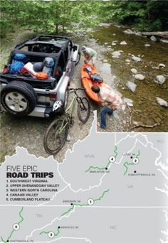 Five Epic Road Trips- a must read. This is a fantastic idea for family vacations or romantic getaways. Outdoor Fun, Outdoor Camping, Outdoor Travel, Oh The Places You'll Go, Places To Travel, Travel Destinations, Dream Vacations, Vacation Spots, Family Vacations