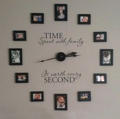 Amazing Uppercase Living decorating ideas for Spaces design ideas with Amazing clock decals family