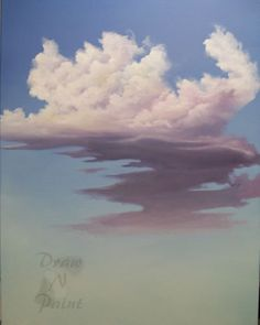 Clouds with Color Oil Painting