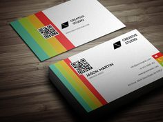 Check out Colorful Business Card by bouncy on Creative Market