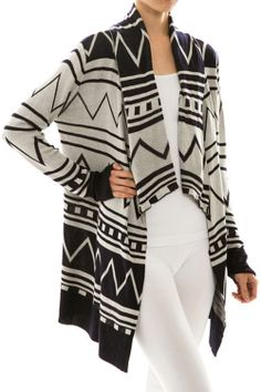 Tribal Knitted Drape Cardigan - Urcurb USE COUPON CODE: EVERYDAY