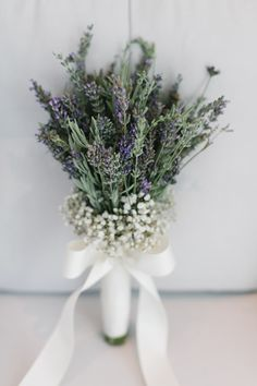 lavender and baby's breath bouquet, photo by Yeliz Atici http://ruffledblog.com/turkey-destination-wedding #weddingbouquet #lavenderbouquet