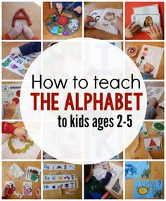 How to teach the alphabet to preschoolers. How to teach the alphabet to preschoolers. Are you wondering how to teach the alphabet to preschoolers? Or just looking for fresh ideas? Here's a link to hundreds of ideas for learning the alphabet. Toddler Learning Activities, Preschool Learning Activities, Preschool Lessons, Fun Learning, Teaching Toddlers Abc, Teaching Resources, Indoor Activities Kids, Family Activities, Activities For 3 Year Olds