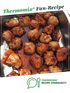 Recipe Chicken & Pork Meatballs by learn to make this recipe easily in your kitchen machine and discover other Thermomix recipes in Starters. Angle Food Cake Recipes, Pork Mince, Pork Meatballs, 5 Recipe, Kitchen Machine, Sweet Chilli Sauce, Recipe Community, Food N, Starters
