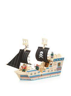 Melissa & Doug Deluxe Pirate Ship Play