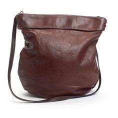 Leather Elongated Bucket Bag