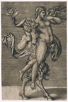 Satyr and Nymph Marco Dente (Italian, Ravenna, active by 1527 Rome) Designed by Giulio Romano (Italian, Rome Mantua) The Metropolitan Museum of Art Medieval Art, Renaissance Art, Illustration Art, Illustrations, Satanic Art, Esoteric Art, Landsknecht, Arte Obscura, Occult Art