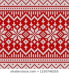 Seamless christmas and new year wool knitting pattern. Vector illustration with snowflakes. Fall Knitting, Knitting Stiches, Knitting Charts, Christmas Knitting, Fair Isle Knitting Patterns, Sweater Knitting Patterns, Knitting Designs, Knitting Socks, Mosaic Patterns