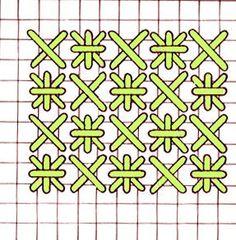 Cross stitch and Smyrna stitch