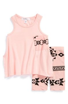 Joah Love Pocket Tank & Capri Leggings (Baby Girls) available at #Nordstrom