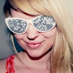 Fun DIY lace sunglasses! @ By Wilma