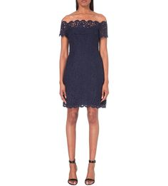 WHISTLES Off-the-shoulder lace dress