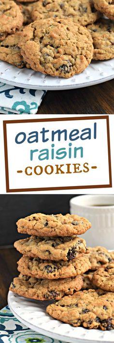 The Best Oatmeal Raisin Cookies Recipe . the Best Oatmeal Raisin Cookies Recipe . The Best Oatmeal Raisin Cookie Recipe, Oatmeal Cookie Recipes, Oatmeal Cookies, Köstliche Desserts, Best Dessert Recipes, Sweet Recipes, Delicious Desserts, Bar Recipes, Recipies