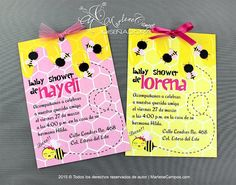 Bumble Bee Invitation  Printable Invitation Baby by PaperArtbyMC