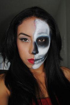 Half Face Half Skull Halloween https://www.makeupbee.com/look_Half-Face-Half-Skull-Halloween_6058