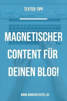 Du willst immer wieder neuen, guten Content für deinen Blog, der Leser*innen magisch anzieht? Dann sind diese Tipps für dich genau richtig. #blog #contentmarketing #blogtexte Inbound Marketing, Affiliate Marketing, Marketing Trends, Content Marketing, Online Marketing, Stress, Media Kit, Competitor Analysis, Storytelling