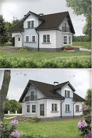 Znalezione obrazy dla zapytania antracytowy dach i białe okna