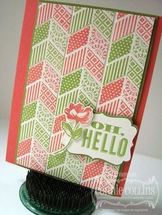 Constantly Stamping: Oh, Hello Chevron Card