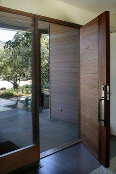 Calistoga Home - contemporary - front doors - san francisco - EARTHTONE CONSTRUCTION Makes cedar door on garage??????