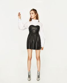 ZARA - WOMAN - LEATHER-EFFECT DRESS