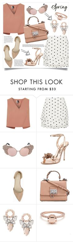 """""""Classy from day to night"""" by anchilly23 on Polyvore featuring Topshop, River Island, Anja, Sophia Webster, Nly Shoes and Dolce&Gabbana"""