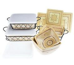 Temp-tations Old World 11-pc. Square Oven-to-Table Set | Oven, PC ...