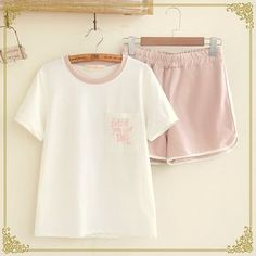 Buy Fairyland Set: Letter Embroidered Short Sleeve T-Shirt   Sweat Shorts at YesStyle.com.au! Quality products at remarkable prices. FREE SHIPPING to Austrailia on orders over AU$ 45.