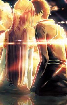 Kirito and Asuna, Sword Art Online Sword Art Online Asuna, Schwertkunst Online, Arte Online, Online Anime, Wallpaper Animes, Animes Wallpapers, Sao Anime, Manga Anime, Manga Girl