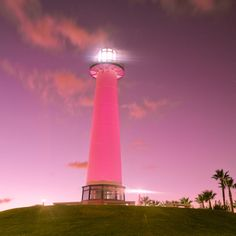 pink light house
